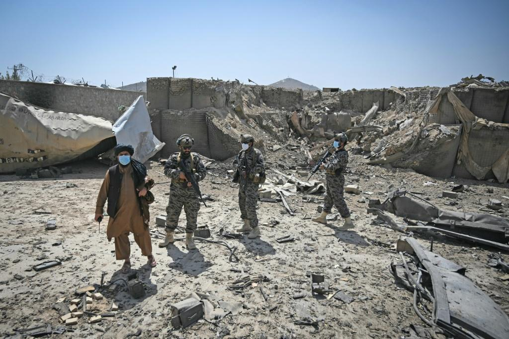 Only a heap of rubble and twisted metal remain in what was the last CIA base in Afghanistan