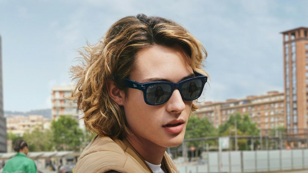 Facebook and Ray-Ban have launched new smart glasses, seen here in an undated handout photo