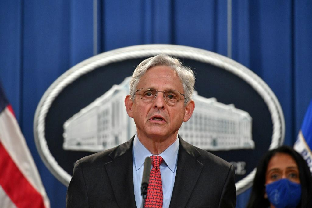 US Attorney General Merrick Garland announces that the Justice Department is filing a lawsuit against Texas over its restrictive abortion law