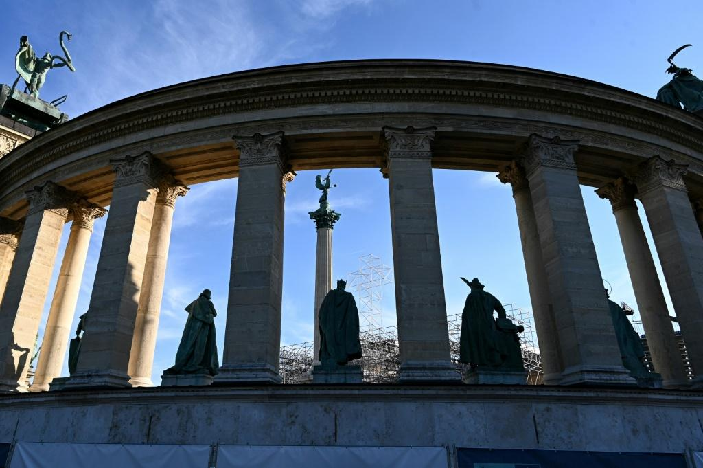 The pope will celebrate an open-air mass on the Hungarian capital's vast Heroes' Square