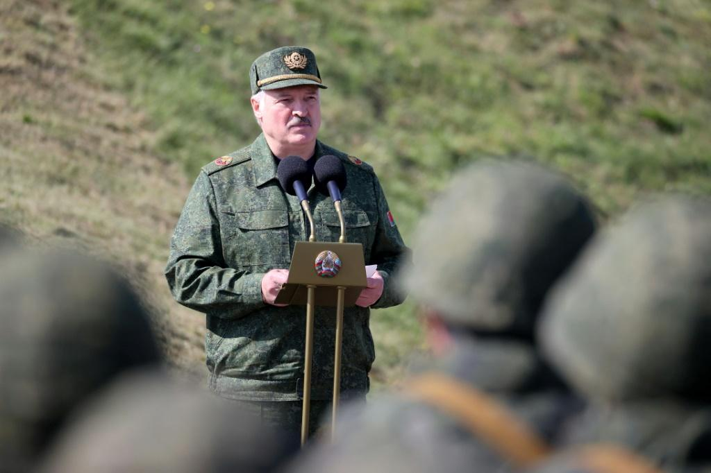 Lukashenko praised Russian and Belarusian troops for their 'high state of readiness' to defend their borders