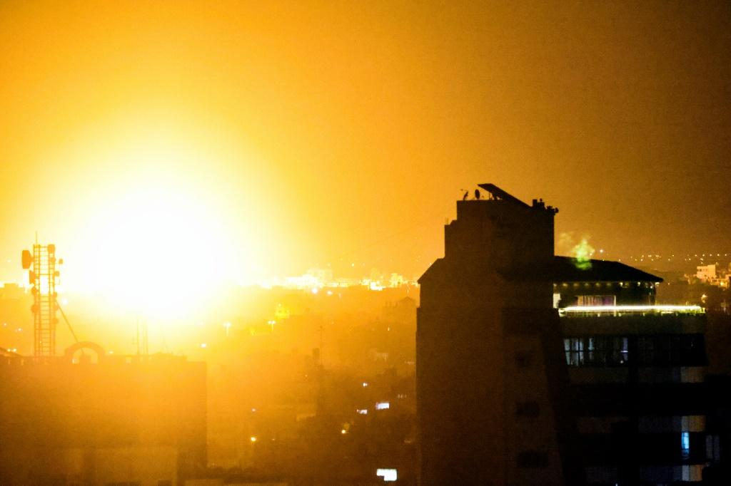 The Israeli army said its fighter jets struck four Hamas military compounds in the Gaza Strip