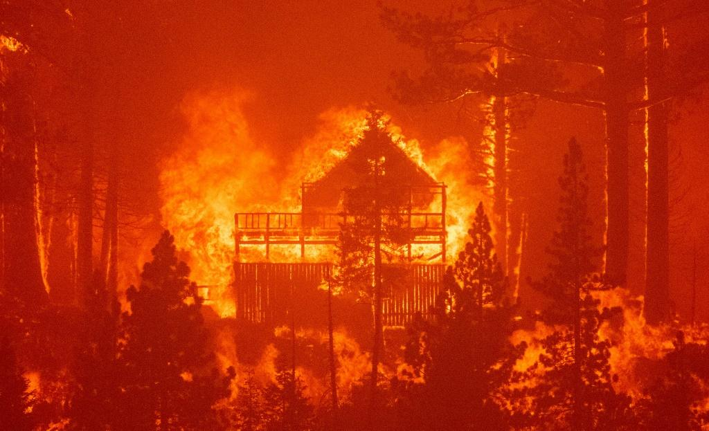 The resort town of South Lake Tahoe was saved from the Caldor Fire, but nearby properties like this one were not so lucky