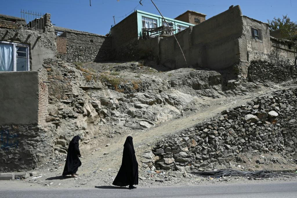 Afghan women in Kabul last week. Guterres highlighted the need to protect the gains made for women and girls over the past two decades