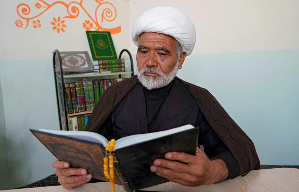 Sheikh Ali Bassir, originally from Afghanistan, has spent 17 years studying at Najaf's prestigious seminary that trains Shiite clergy
