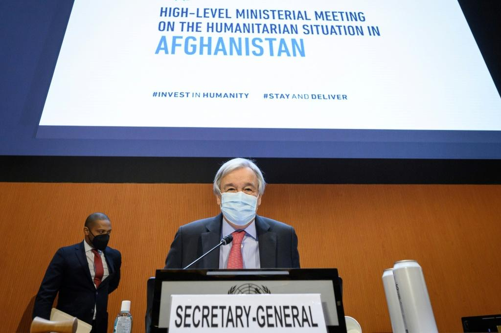 UN Secretary-General Antonio Guterres in Geneva: 'This conference is not simply about what we will give to the people of Afghanistan. It is about what we owe'