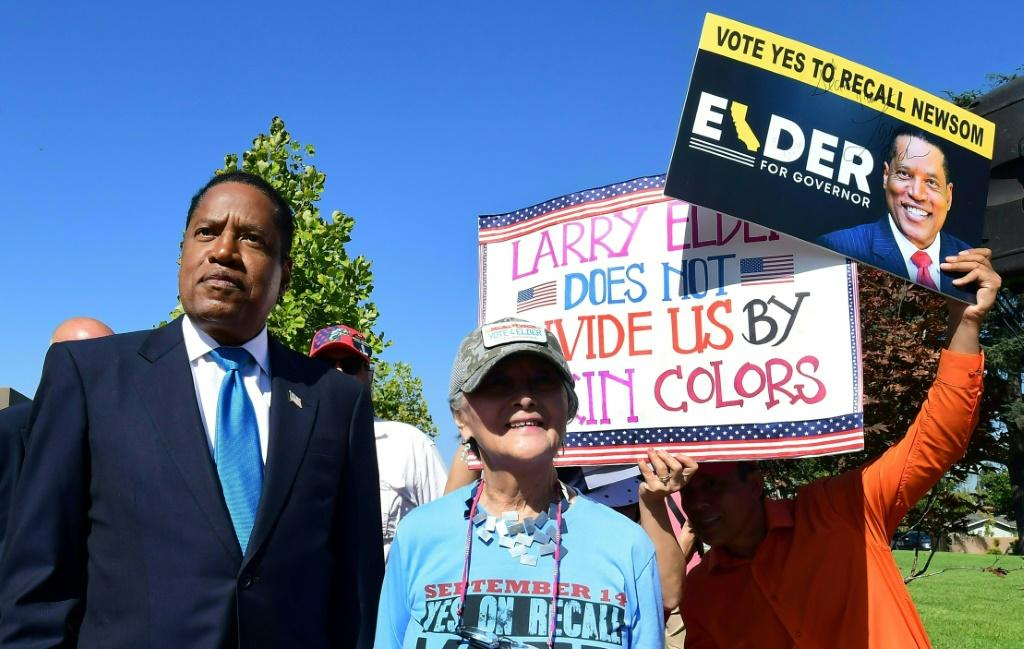 Newsom's main challenger is Larry Elder, a right-wing talk radio star who has openly supported controversial former president Donald Trump
