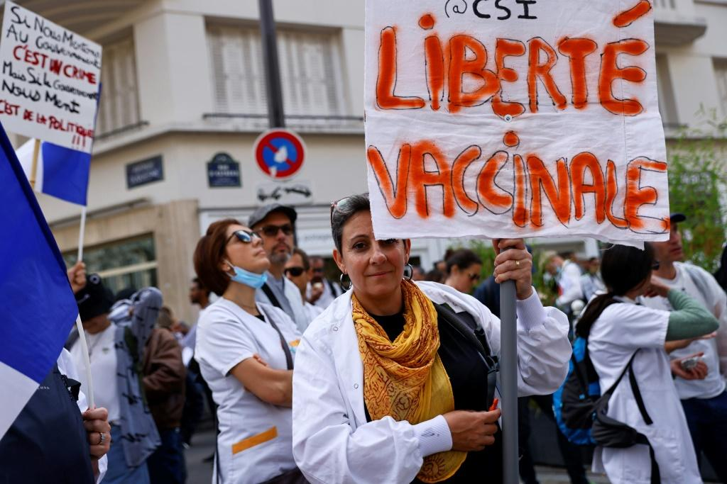 Tens of thousands of health workers and carers remain unvaccinated despite an ultimatum from President Emmanuel Macron to get the jab or face suspension without pay