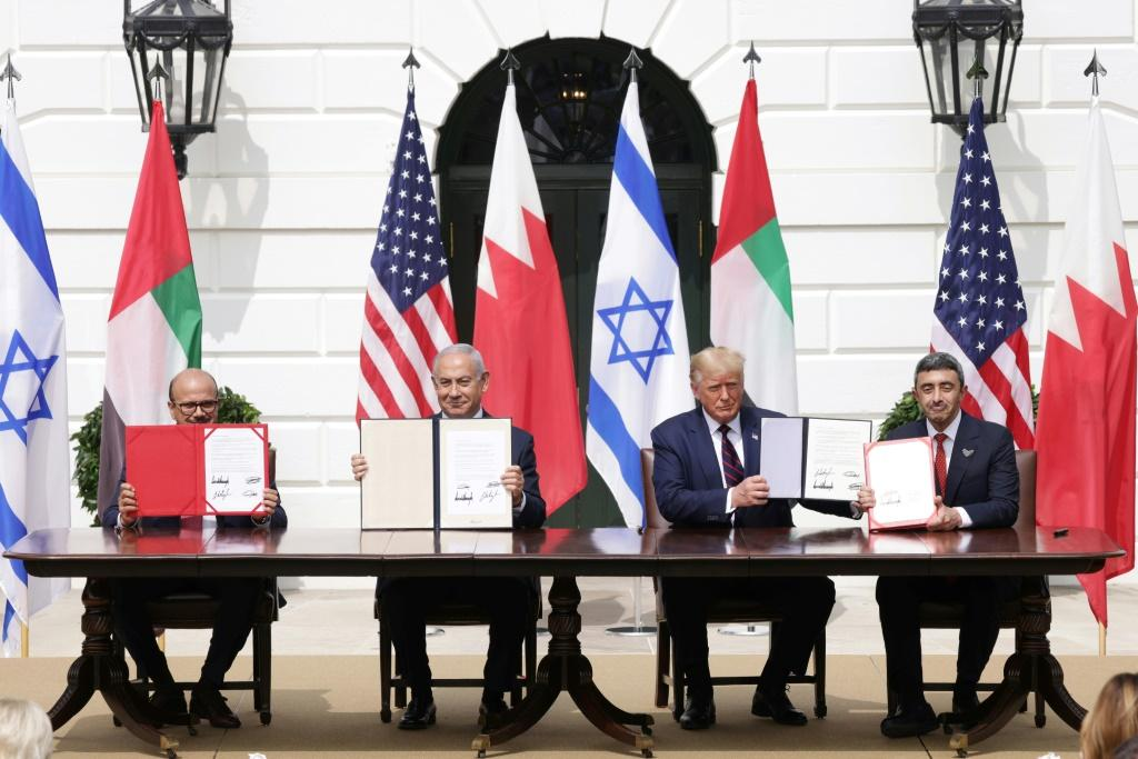 The UAE and Bahrain signed the 'Abraham Accords' with Israel at the White House last year