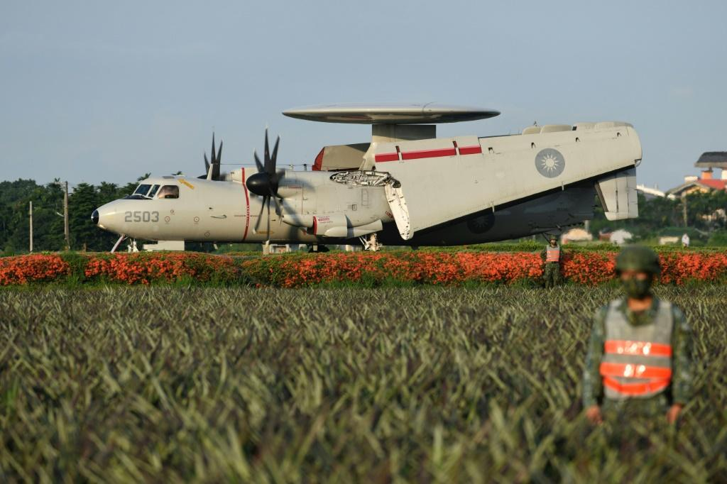 An E2K early warning aircraft also took part in the drill using a road as a runway