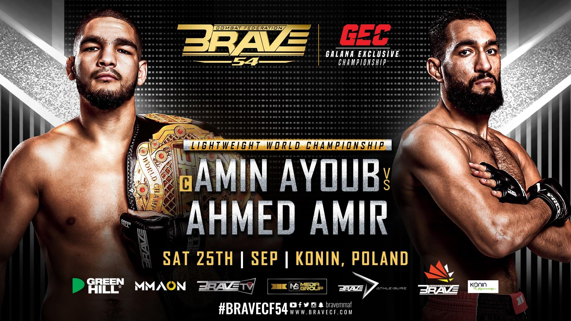 BRAVE CF 54 Main Event Poster