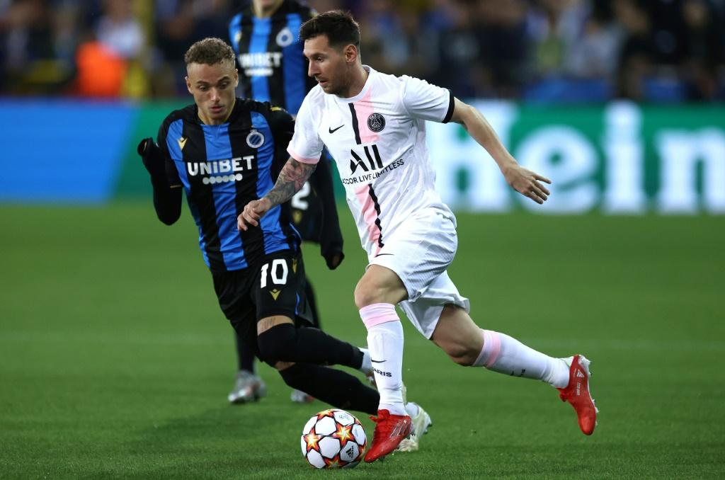 Lionel Messi and PSG were held in check by Club Brugge