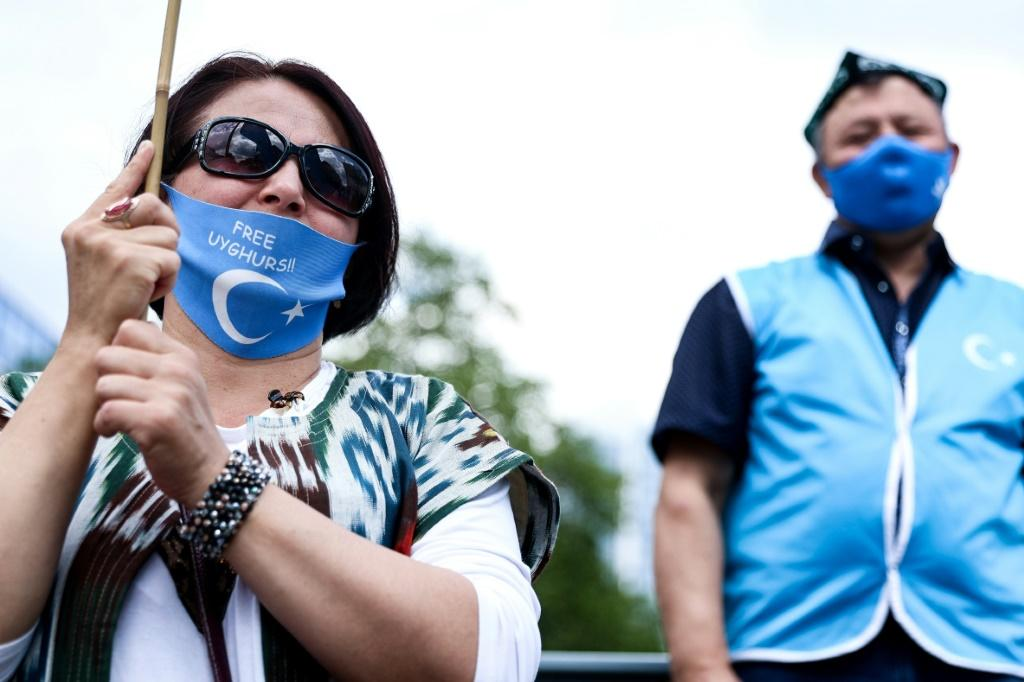 Members of the Uyghur community have regularly demonstrated in Europe to attract attention to the plight of their compatriots still in China