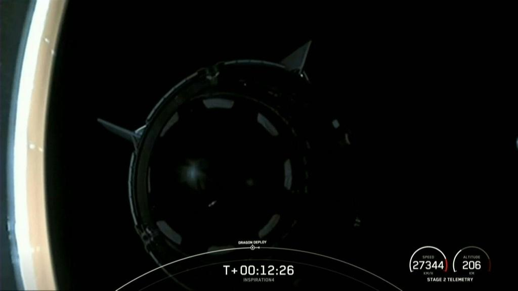 SpaceX tourists in orbit as capsule separates from rocket