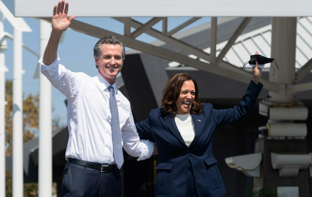 The Democratic Party firmament came out to shine for Newsom, including Vice President Kamala Harris