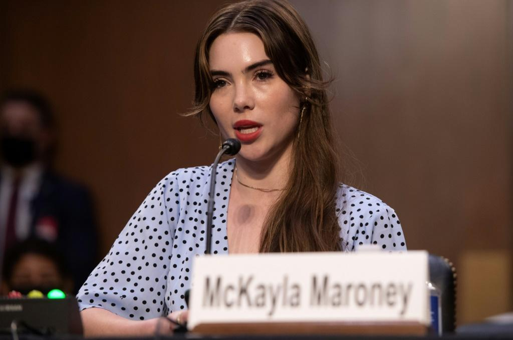 WASHINGTON, DC - SEPTEMBER 15: U.S. Olympic gymnast McKayla Maroney testifies during a Senate Judiciary hearing about the Inspector General's report on the FBI handling of the Larry Nassar investigation of sexual abuse of Olympic gymnasts, on Capitol Hill
