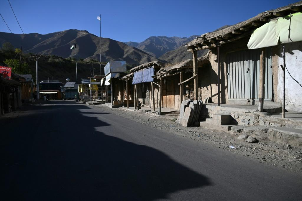 Markets and shops in Panjshir's villages are deserted with very few businesses still open