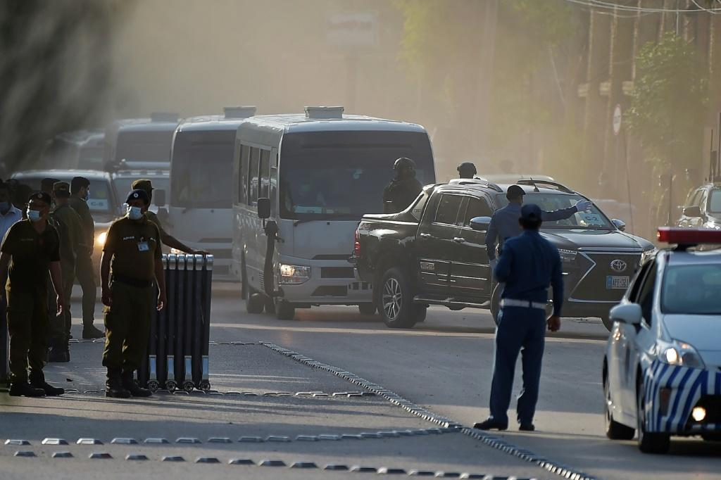 Heavy security has been deployed in Pakistan to escort the visiting New Zealand players and their hosts