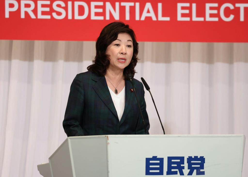 Seiko Noda said she would aim for women to make up half of her cabinet if elected