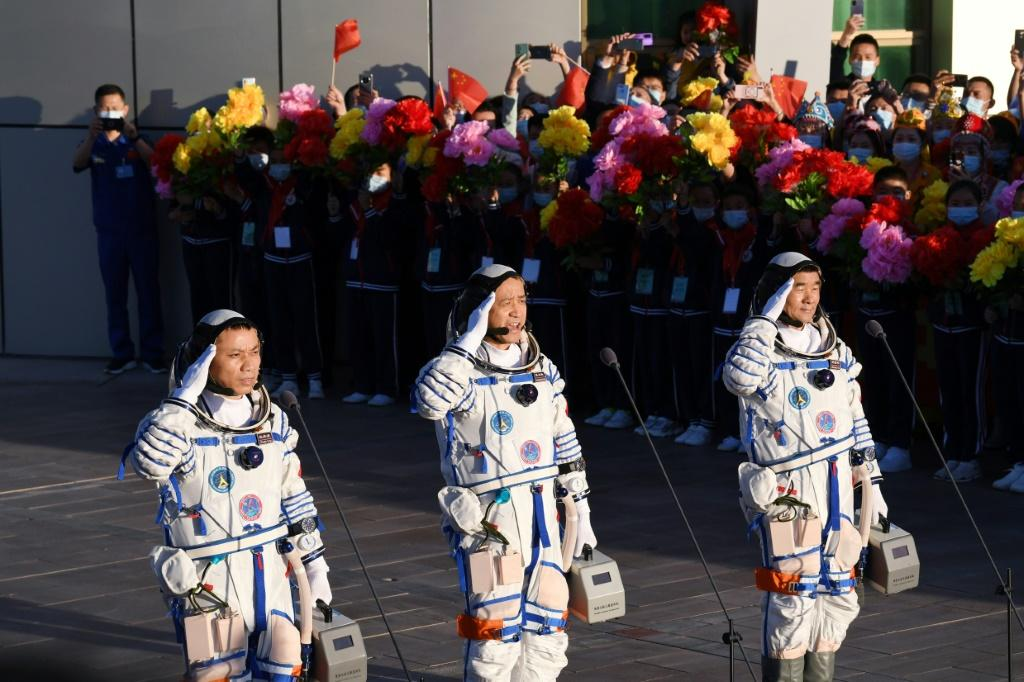 The launch of Beijing's first crewed mission in nearly five years coincided with the 100th anniversary of the ruling Communist Party
