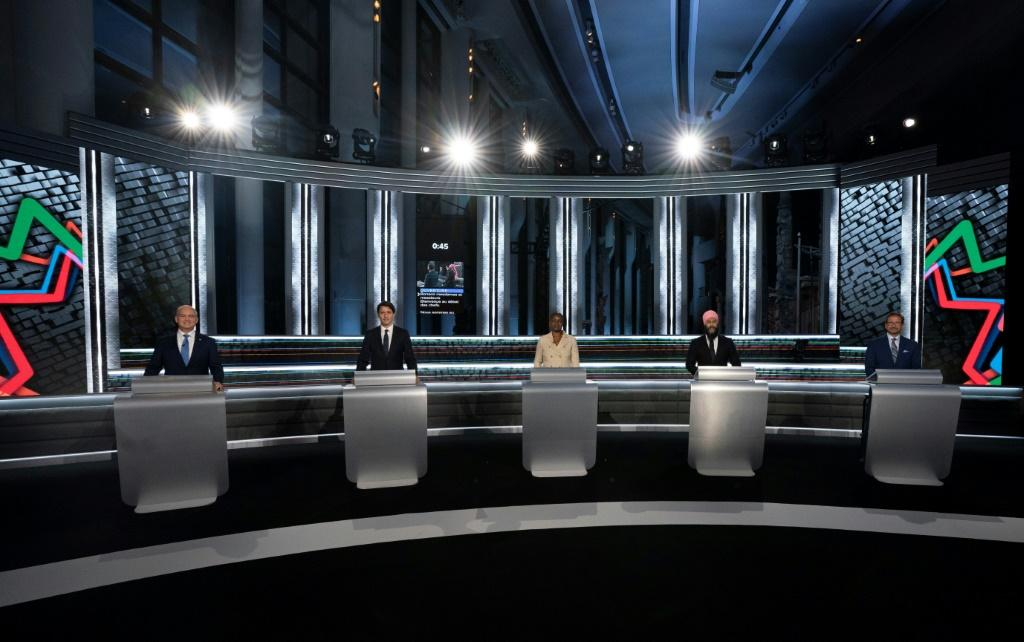 Canadian party leaders debated ahead of Monday's election in which smaller factions could be spoilers for the two frontrunners -- the Liberals and the Conservatives