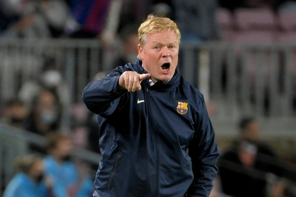 Ronald Koeman watched on as Barcelona were beaten at home to Granada on Monday.