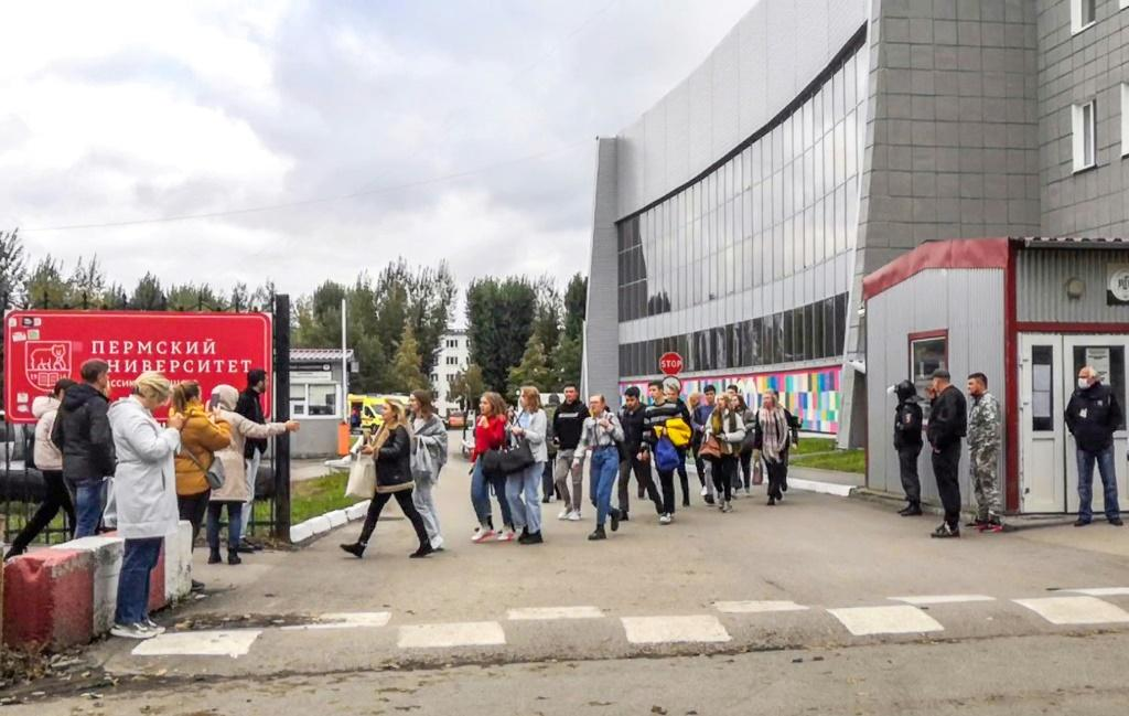 Witnesses described scenes of panic at Perm State University