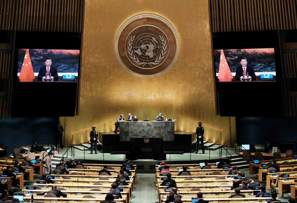 Chinese President Xi Jinping virtually addresses the UN General Assembly