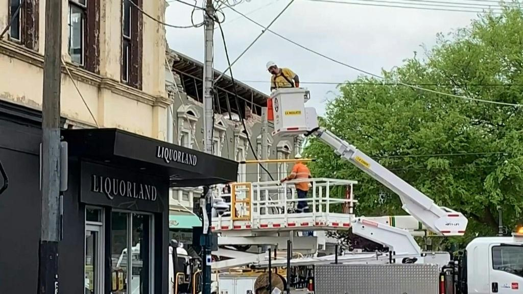 IMAGES Some buildings were damaged in Melbourne after a rare earthquake rattled southeastern Australia. The shallow quake hit east of the country's second-largest city just after 9:00am local time (2300 GMT) and was felt hundreds of kilometres (miles) a