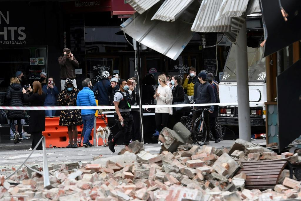 The rare quake shook buildings, knocked down walls and sent panicked Melbourne residents running into the streets