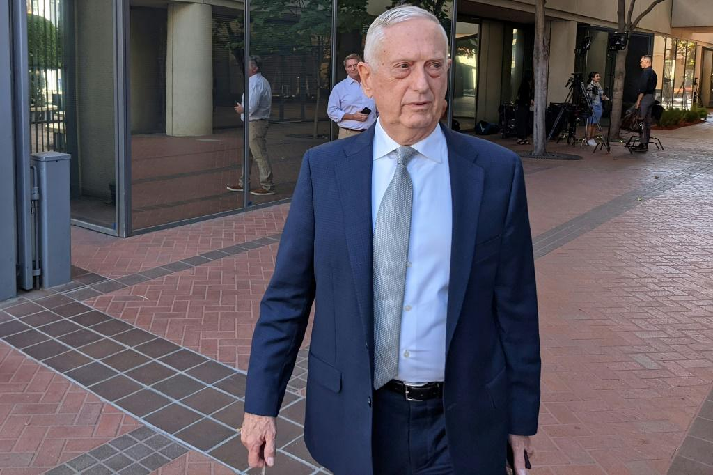 Former US defense secretary Jim Mattis arrives at the courthouse to testify in the fraud trial of Theranos founder Elizabeth Holmes, in San Jose, California on September 22, 2021