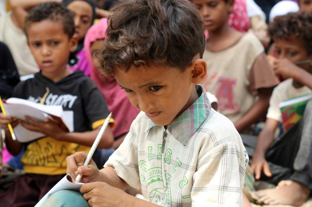 Other than learning how to read and write, the children also get lessons in maths and science