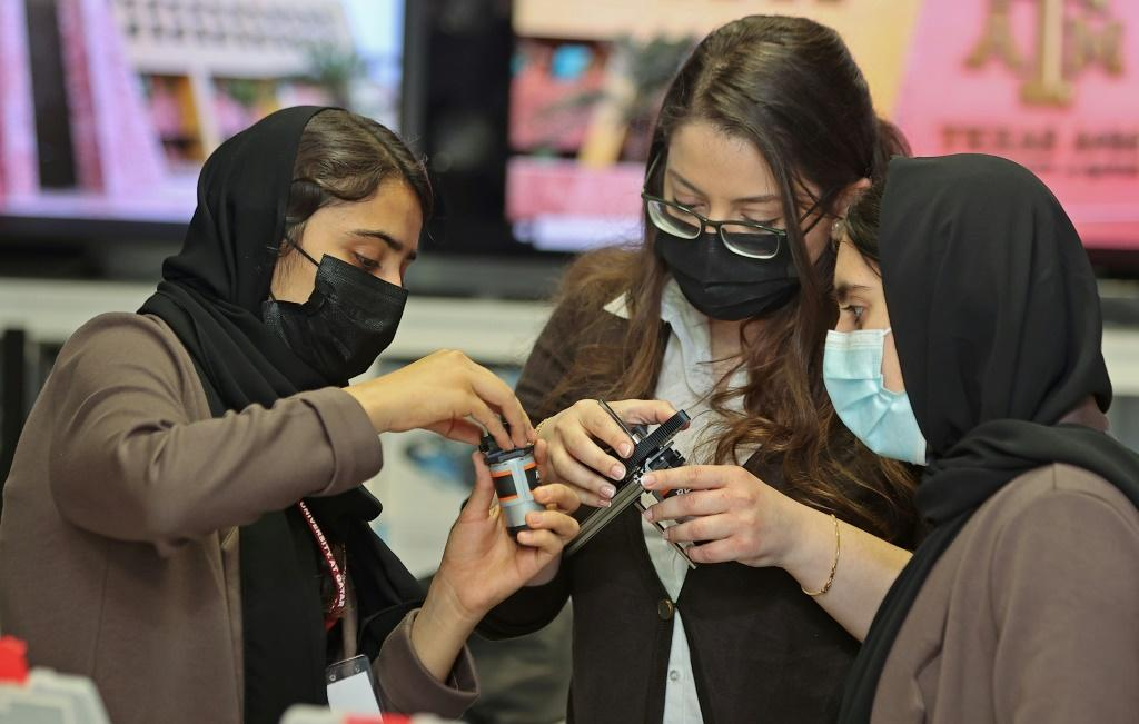The nine members of an all-girl Afghan robotics team evacuated from Kabul to Qatar have acquired star status and captured hearts since fleeing their homeland