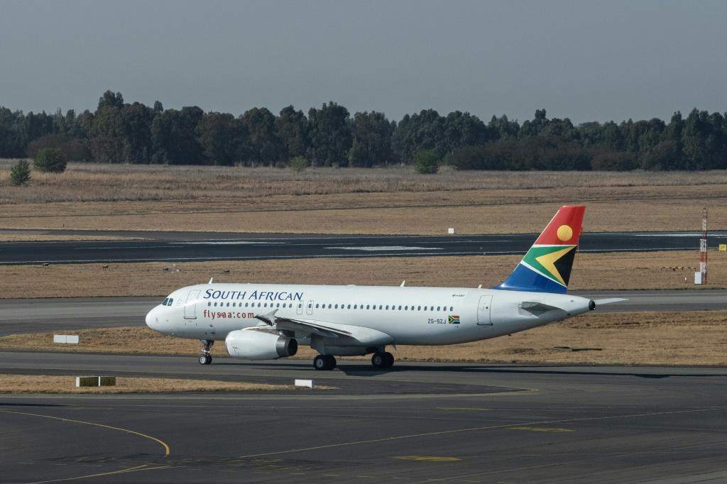 Back in business: The SAA flight readies for takeoff at Johannesburg's O.R. Tambo airport