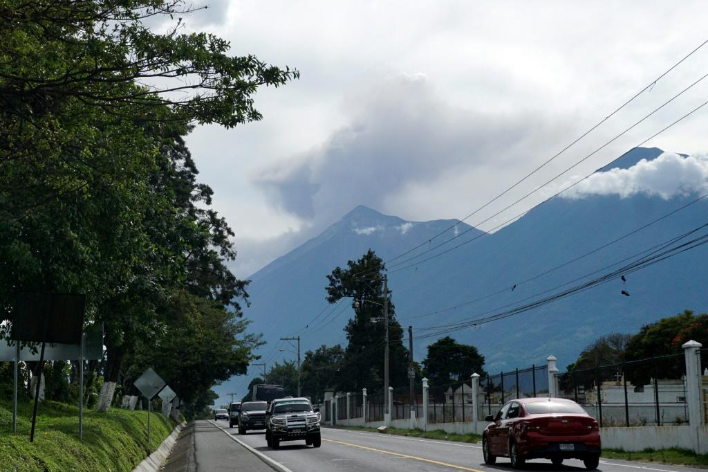 Eruptions produced a long river of lava flowing down to the base of Guatemala's Fuego volcano