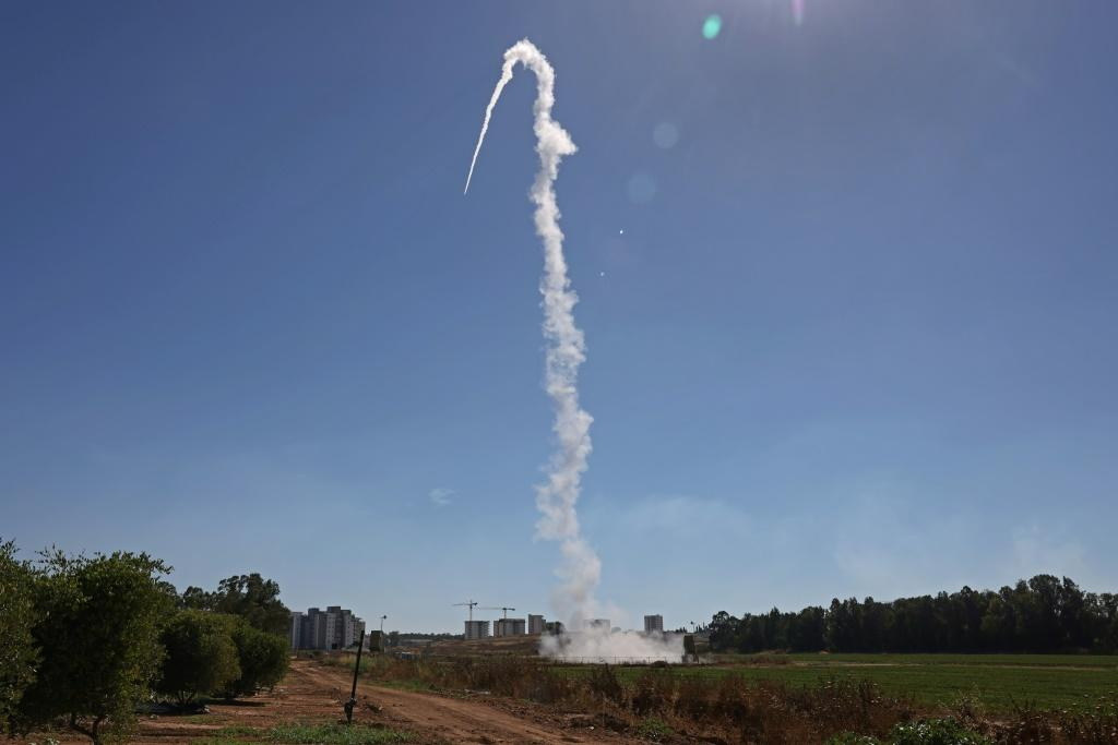 Israel's Iron Dome aerial defence system, pictured in May 2021, has destroyed thousands of short-rangerocketsandshellslaunched by Hamas