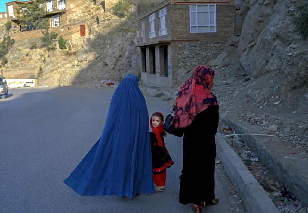 Despite the reurn of the Taliban, women can still be seen on the streets of Kabul