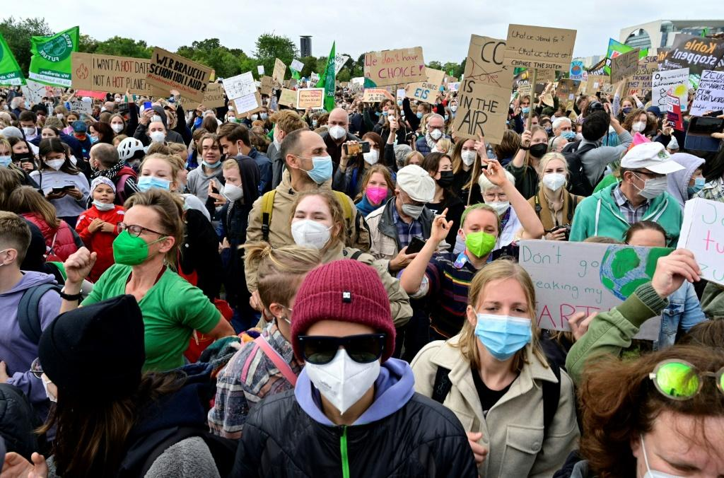 """More than 400 """"climate strikes"""" were taking place across Germany"""