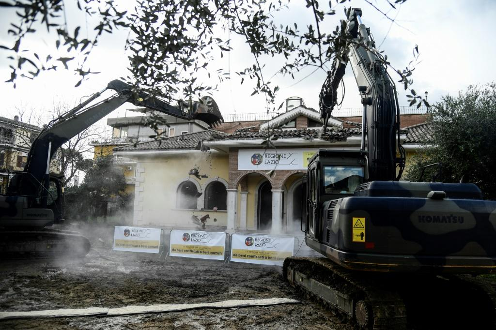 Rome's mayor ordered eight illegal and typically ornate Casamonica villas bulldozed in 2018