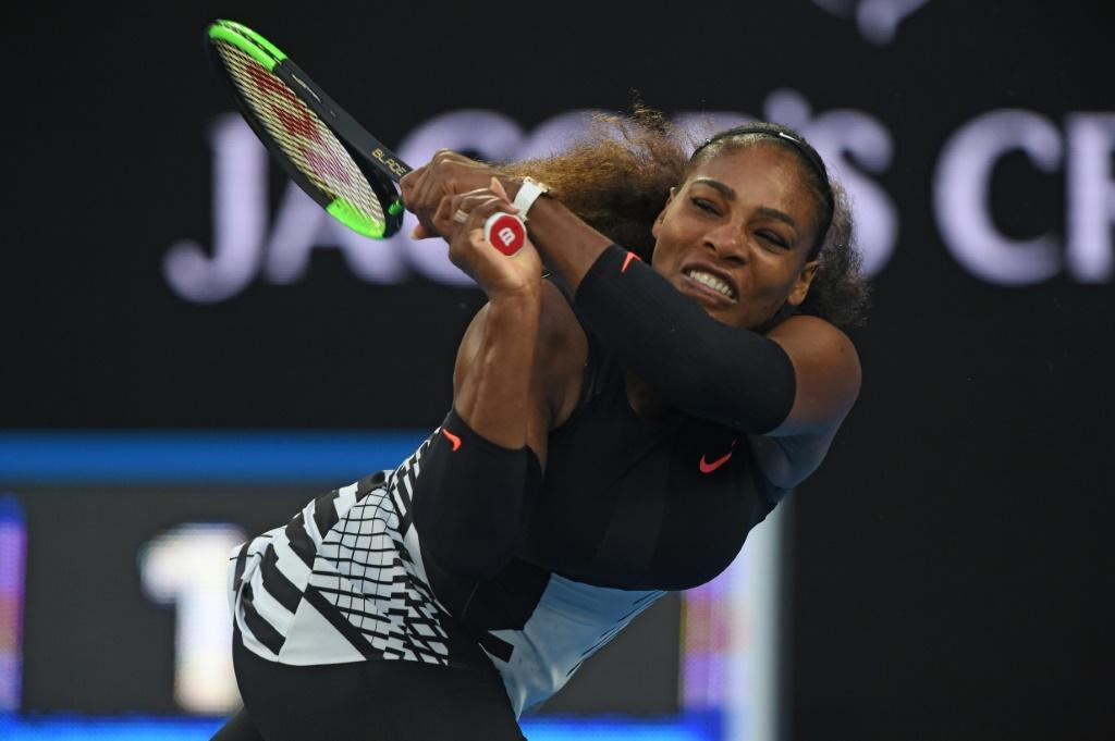 'The greatest': Serena Williams on her way to victory over sister Venus in the 2017 Australian Open final