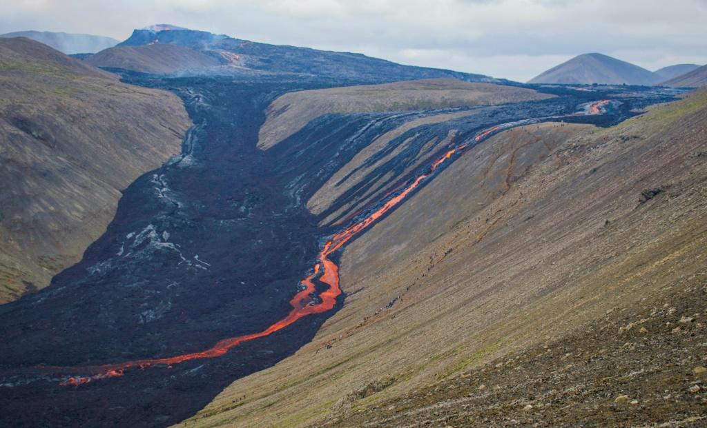 Iceland which is home to 32 active volcano systems and 400 glaciers