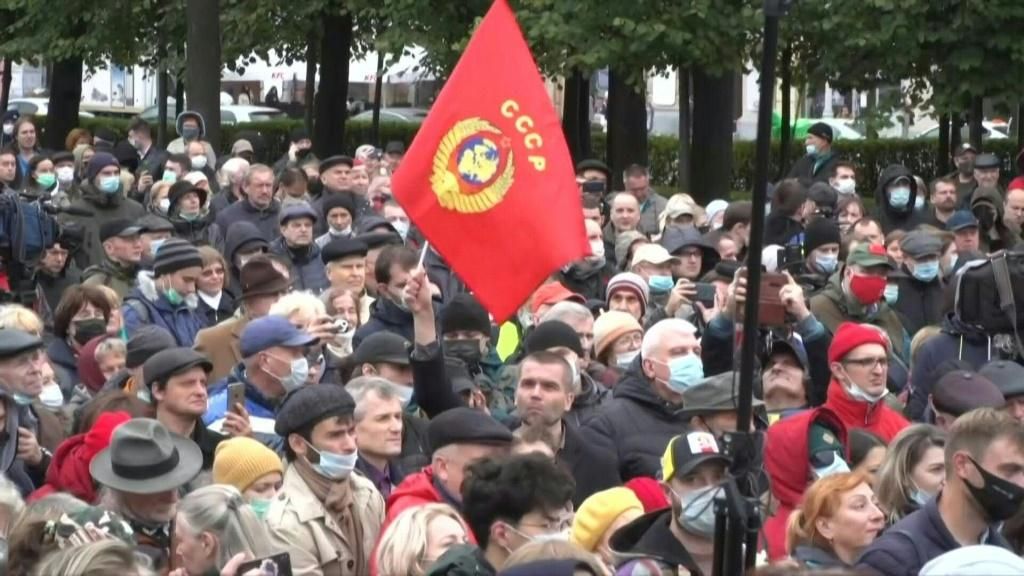 IMAGES Thousands of people gather in Moscow for a demonstration called by the Russian Communist Party, to protest against the results of the parliamentary elections. The Russian opposition denounced massive fraud in the elections which saw the Kremlin par