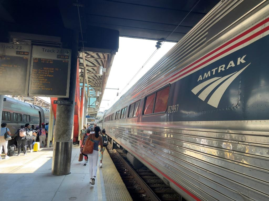 Around 141 passengers and 16 crew members were traveling from Chicago towards the Pacific coast on an Amtrak train (similar to the one pictured in July 2021) when eight of the 10 cars came off the tracks