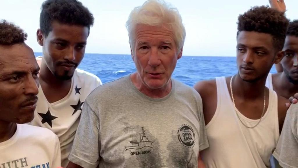 Richard Gere went aboard the Open Arms in August 2019 to support the migrants, a visit mocked by Salvini at the time