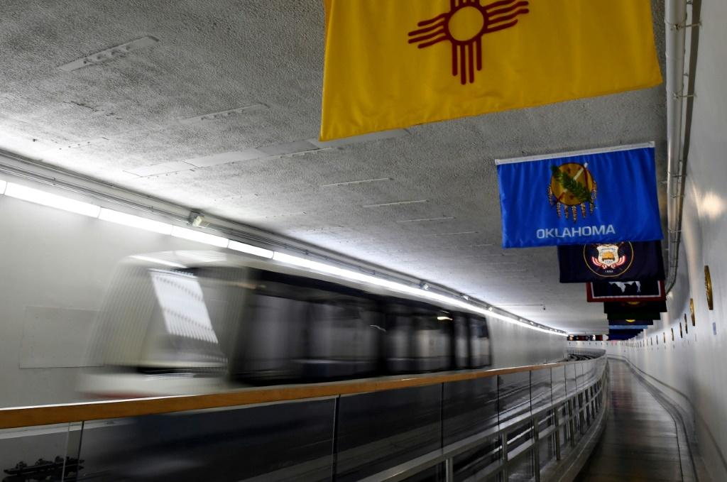 The track stretches 3,100 feet -- a shade under a kilometer -- with a 90-second hop between stations