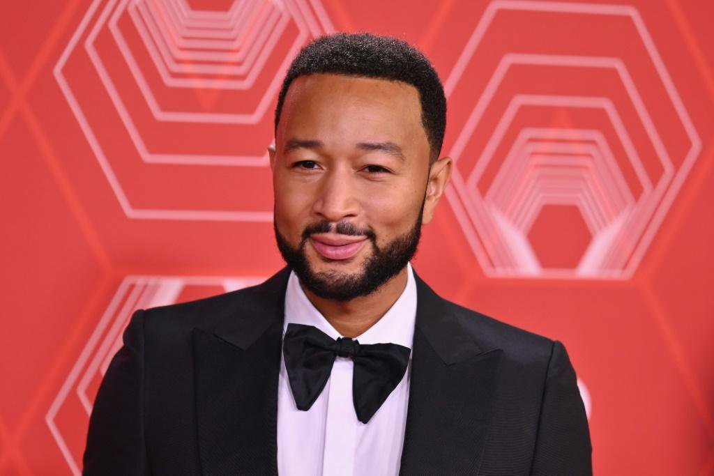 """US singer-songwriter John Legend performed at the Tonys with the cast of """"Ain't Too Proud: The Life and Times of the Temptations"""