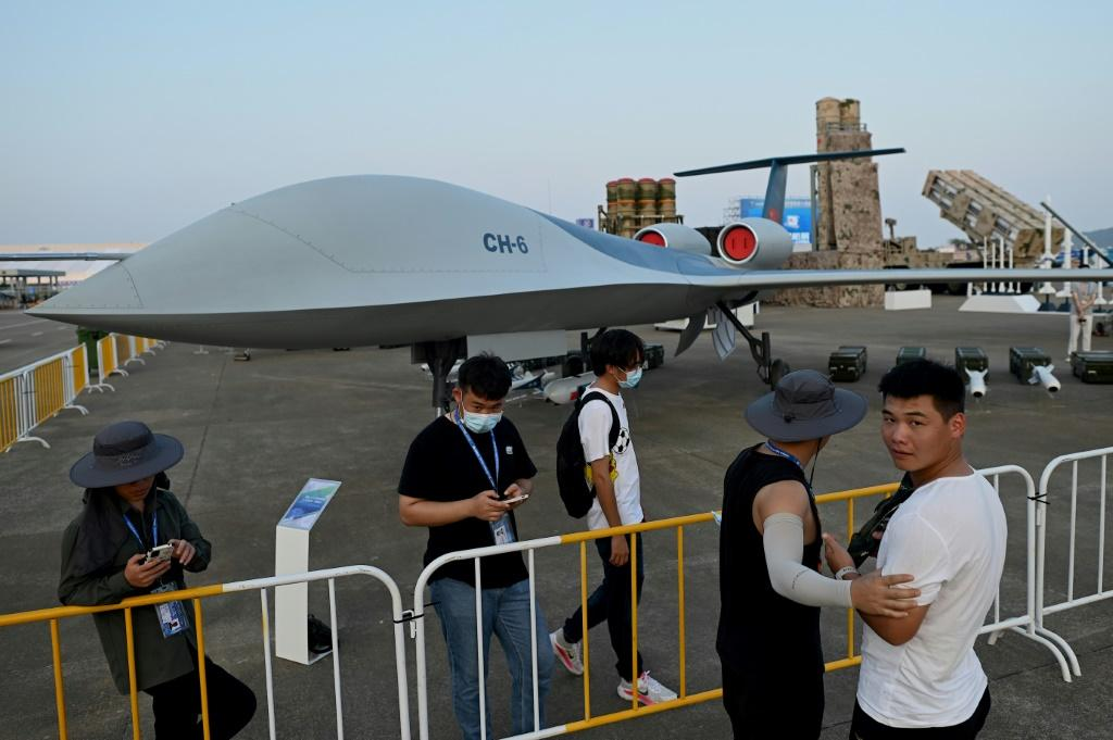 A prototype of a new surveillance drone able to carry out attacks -- the CH-6 -- was among domestic tech unveiled in Zhuhai