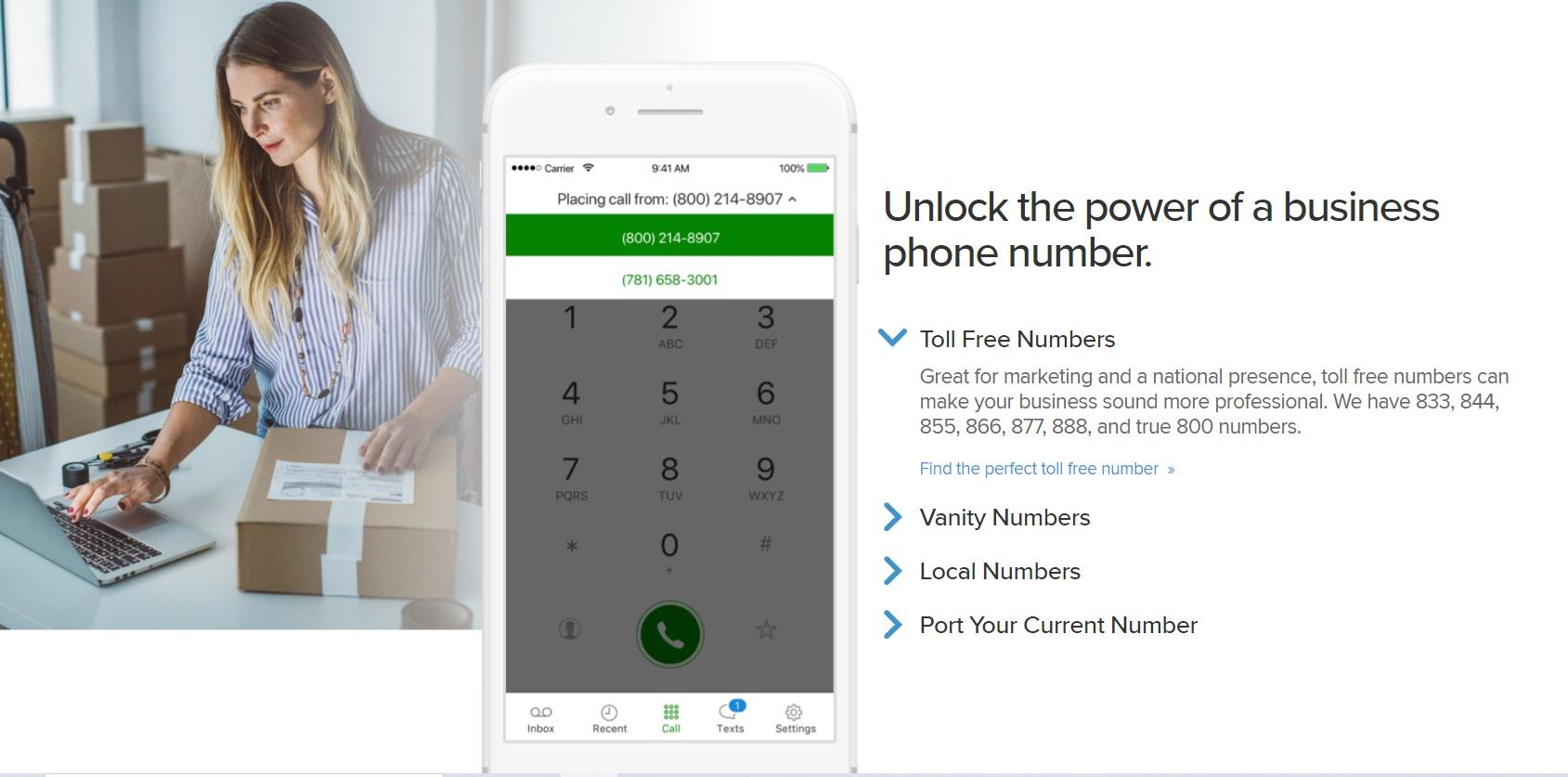 Grasshopper gives you a business phone number