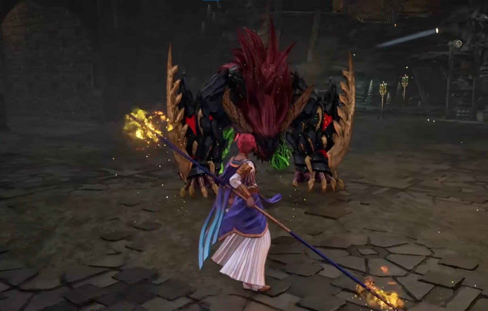 Dohalim excels in short and mid-ranged combat using his staff and astral artes