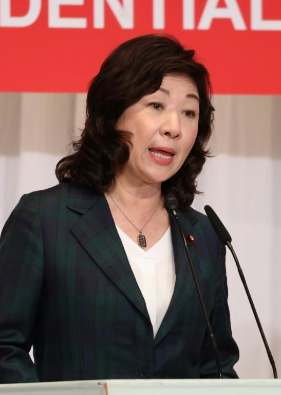 Former women's empowerment minister Seiko Noda jumped into the race a day before campaigning began